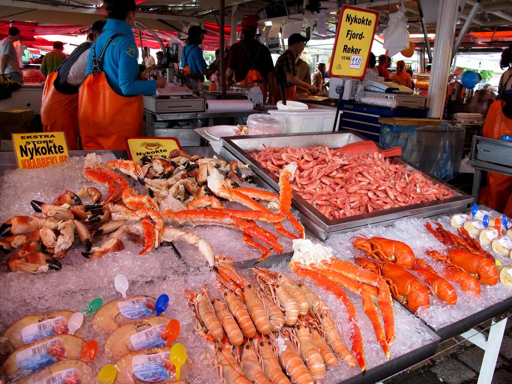 Бергенский рыбный рынок