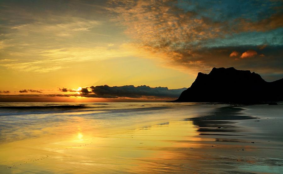 полуночное солнце Норвегии